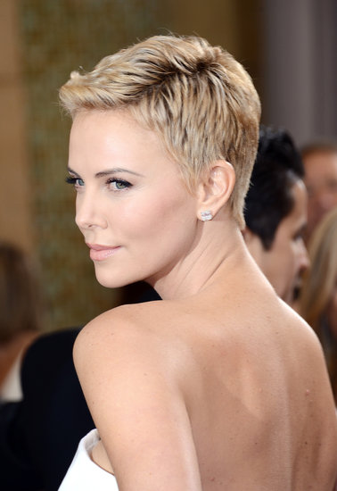 charlize theron oscars hair 2013