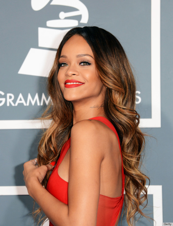 Rihanna hair 2013 grammys