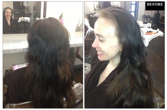 black to blonde hair color correction