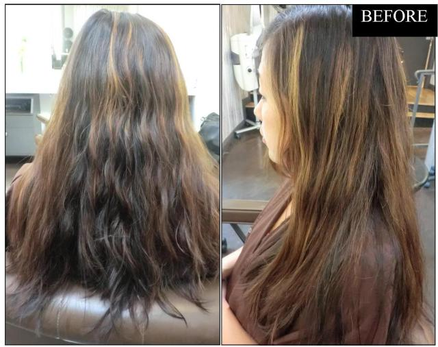 brunette highlights makeover
