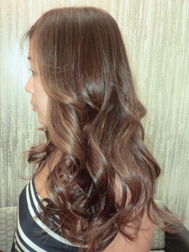 chocolate brunette highlights