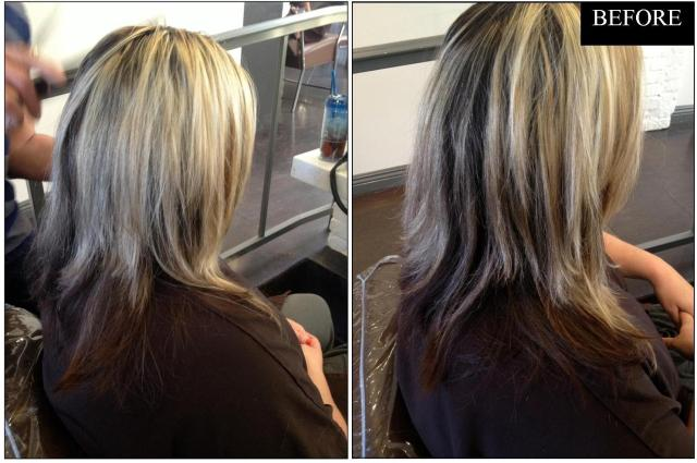 hair makeover before and after
