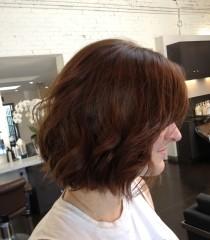 wavy and short haircut
