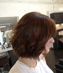 wavy and short haircut