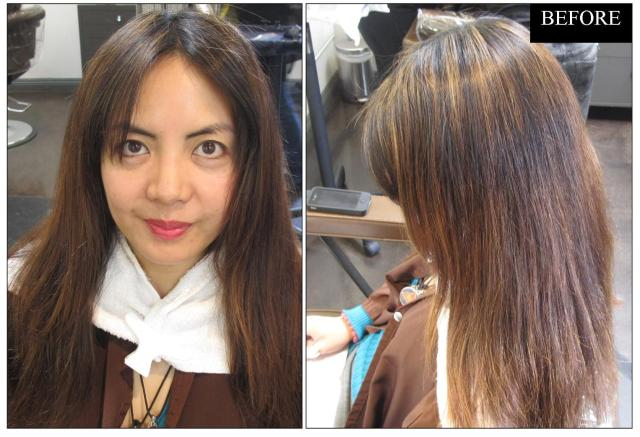 brunette hair color makeover