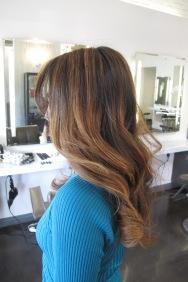 caramel brunette highlights