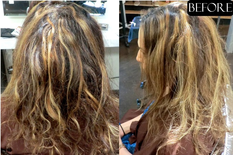 Hair Color Correction Before And After Jonathan Amp George