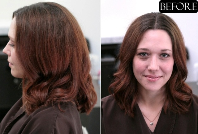 auburn hair before and after