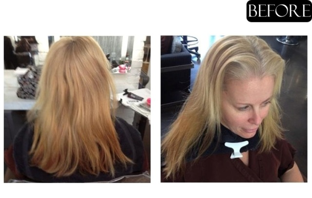 blonde hair makeover before and after