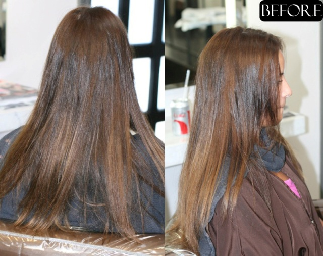Before After Cut Long Natural Brunette Before And After Cut | Dark ...