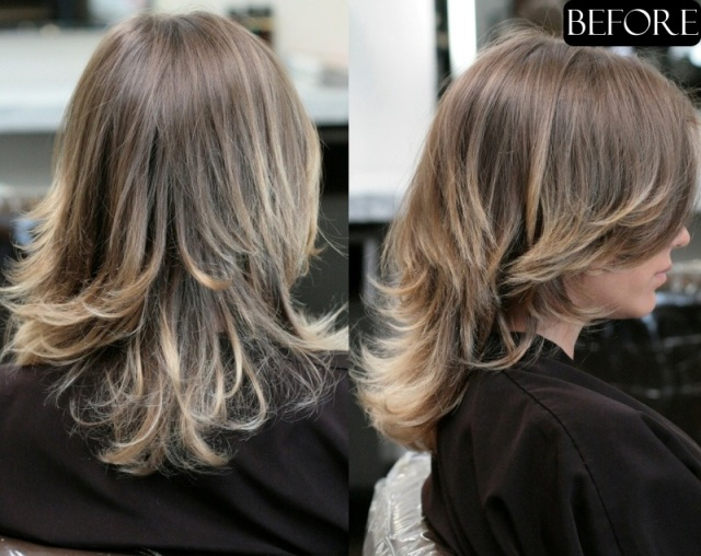 hair makeover extensions before and after