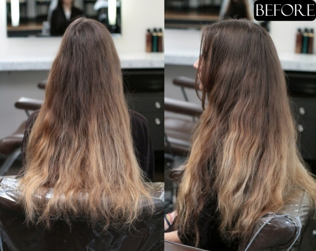 ombre hair makeover