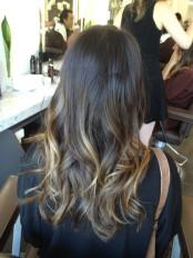 lily aldridge ombre hair 2013