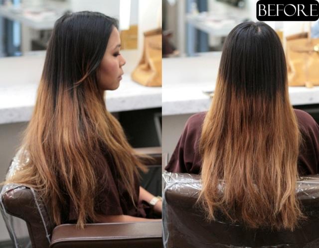ombre hair color correction