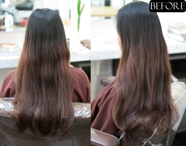 brunette hair before and after