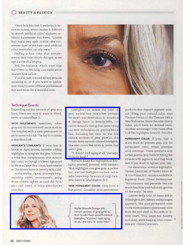 Amanda George hair colorist tips