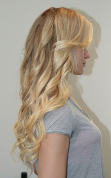 blonde hair extensions and highlights