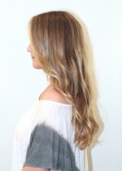 Fall hair trends - honey pecan blonde