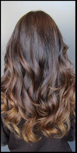 mocha brunette highlights