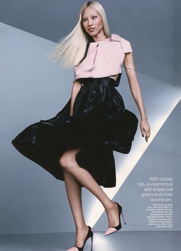 soo joo park lucky magazine october 2013