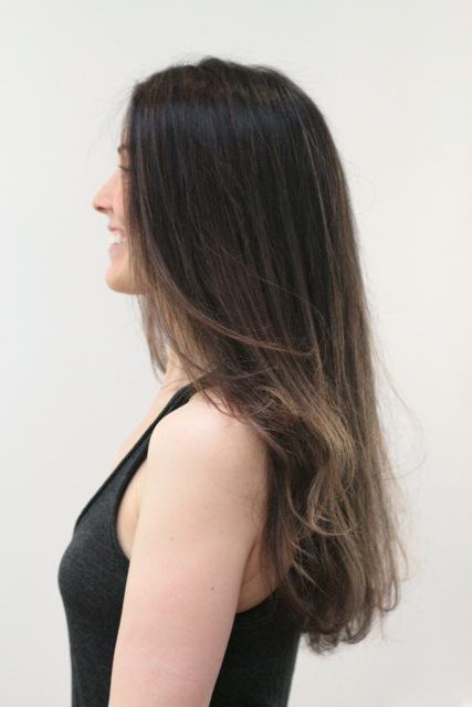 straight hair makeover
