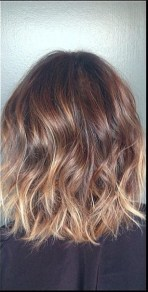 subtle brunette ombre and highlights