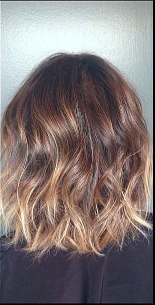 subtle brunette ombre and highlights