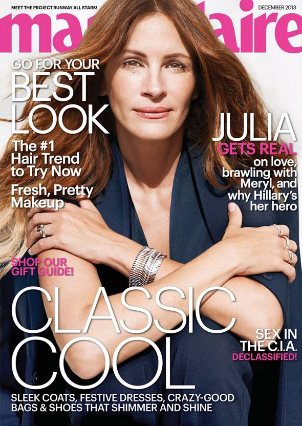 Julie Roberts Marie Claire December 2013