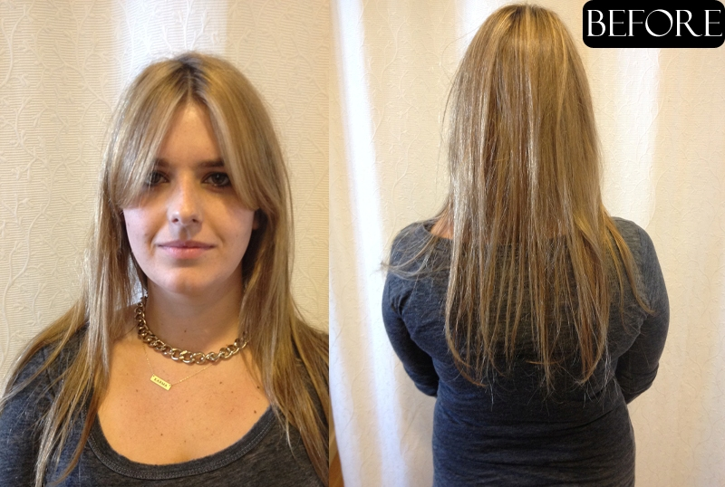 Long Hair Extensions Before and After