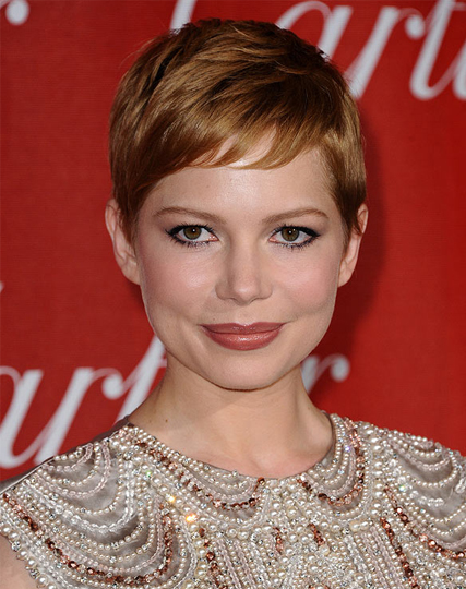 michelle williams pixie and red hair