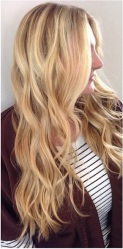 natural blonde highlights - hair color ideas