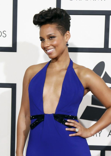 alicia keys hair 2014 grammys