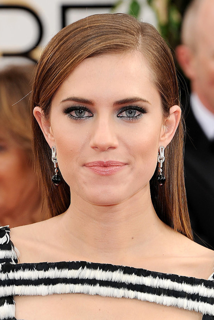 allison williams hair 2014 golden globes