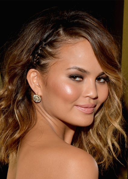 chrissy tiegen hair 2014 grammys