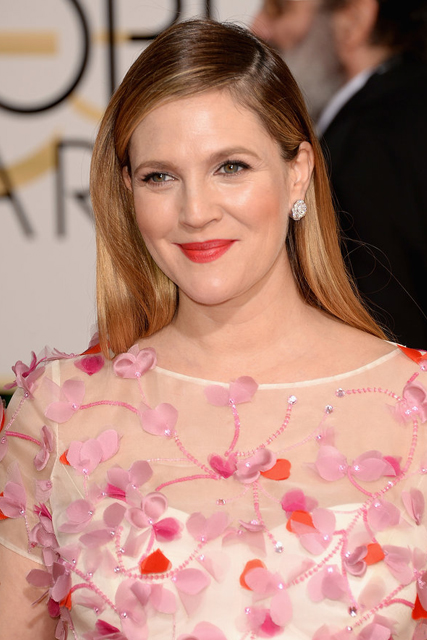drew barrymore hair 2014 golden globes