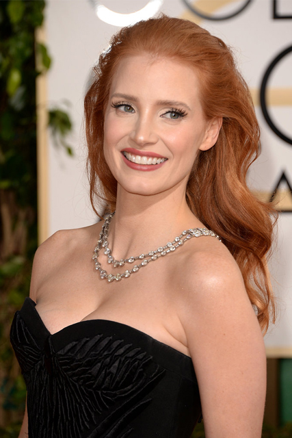 jessica chastain 2014 golden globes