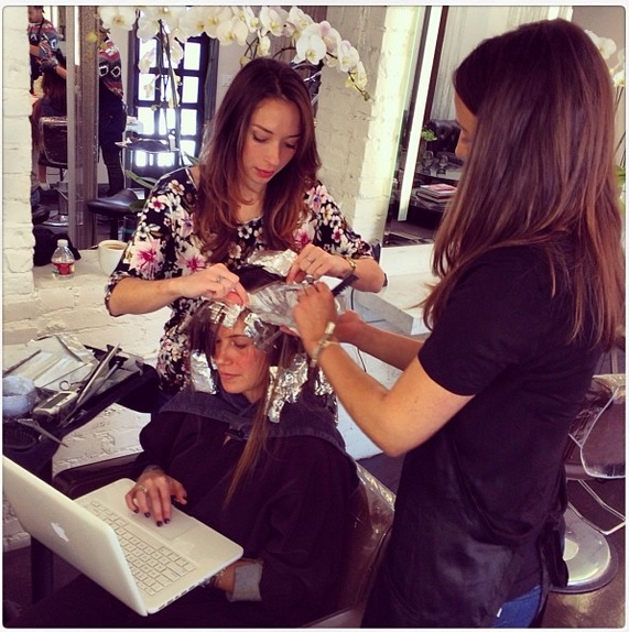 Best Salons In Los Angeles: Before And After: Lose Some Length, Add Some Color
