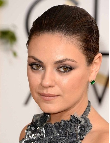 mila kunis hair 2014 golden globes
