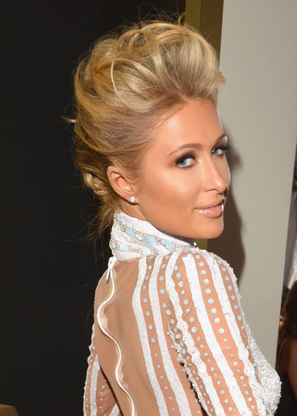 paris hilton hair 2014 grammys