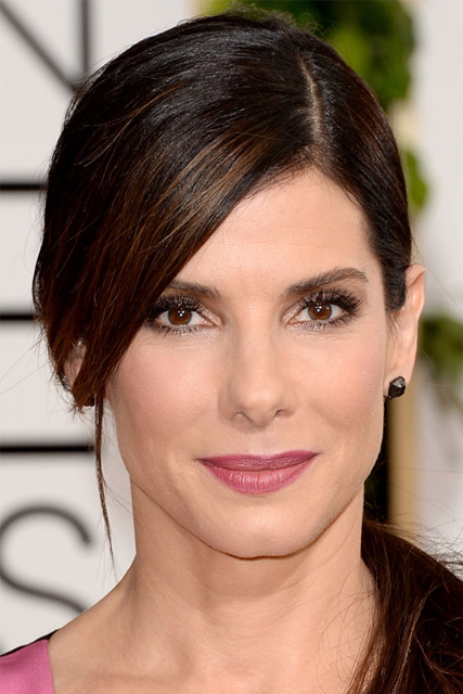 sandra bullock hair 2014 golden globes