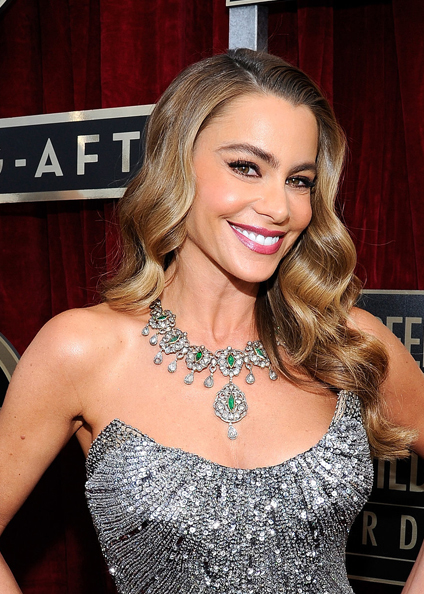 sofia vergara hair sag awards 2014
