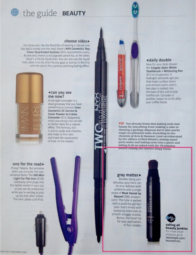 root vanish real simple magazine