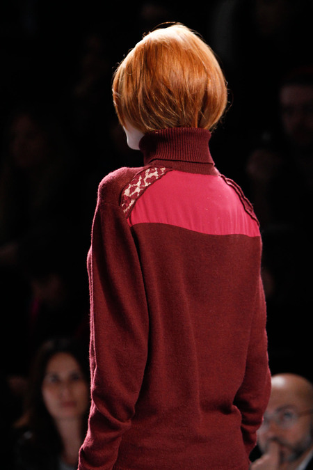 tucked in hair trend - nina ricci fall 2014