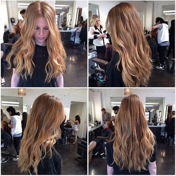 undone wavy hair