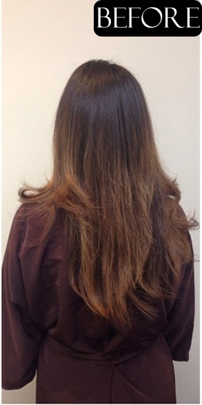 before and after hair blog