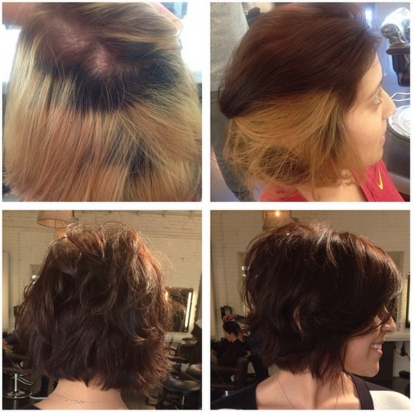 Before And After Ombre Correction  JONATHAN Amp GEORGE