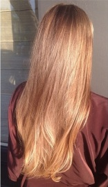 sunkissed brunette highlights