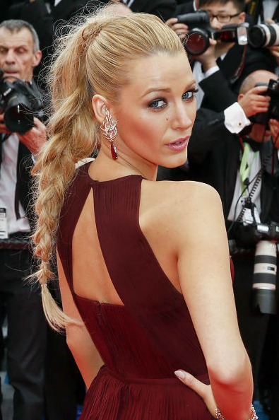 Blake Lively Hair Braid Grace of Monaco Premiere Cannes 2014