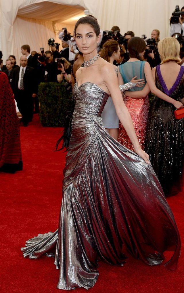 Lily Aldridge met gala 2014