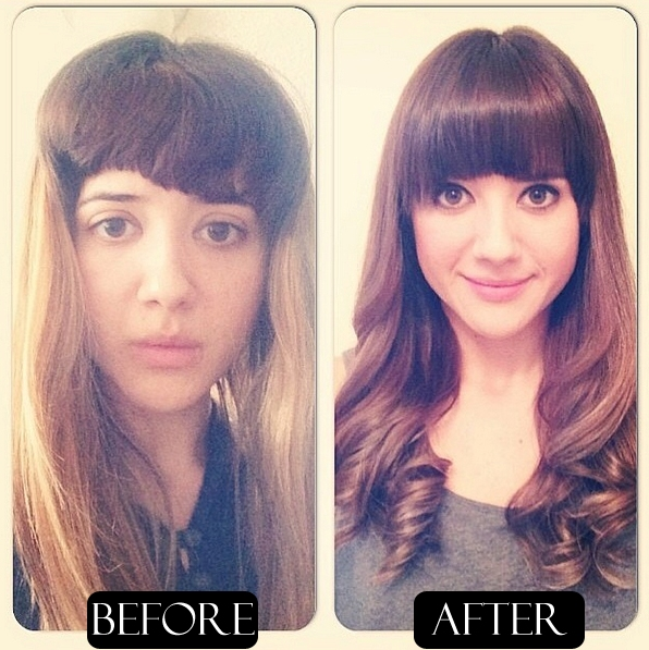 hair color correction before and after